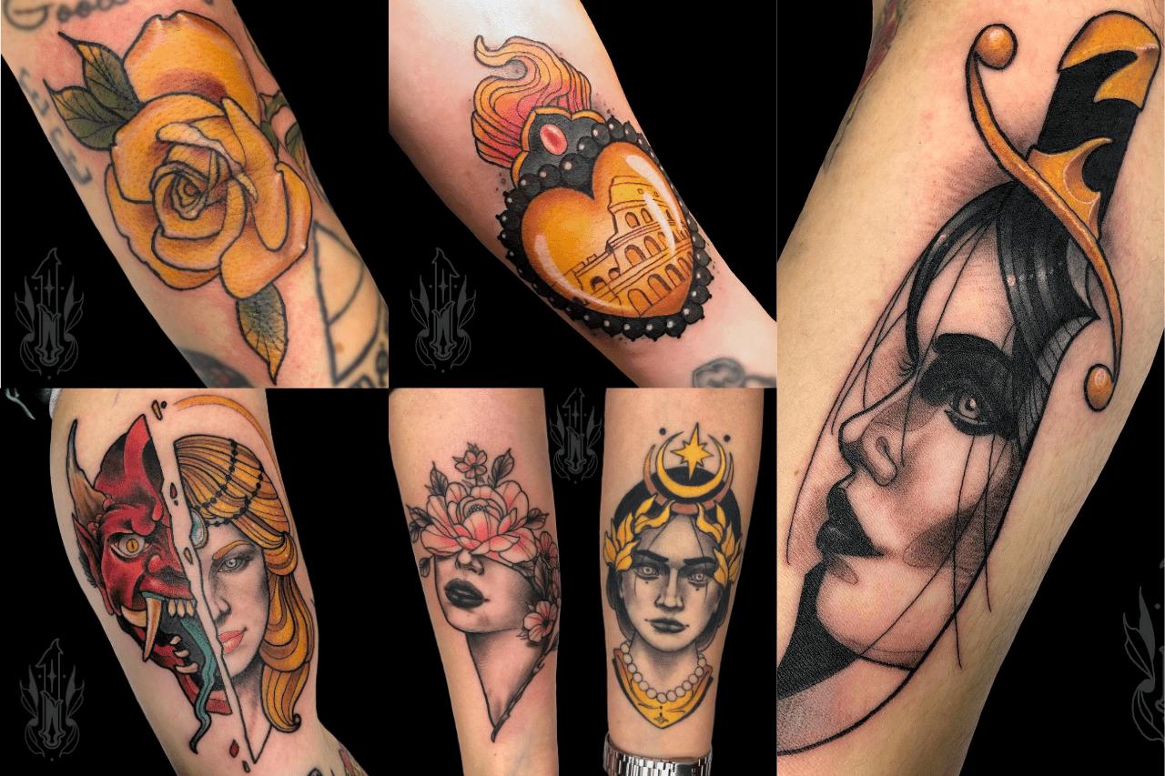 serie di lavori old school tattoo