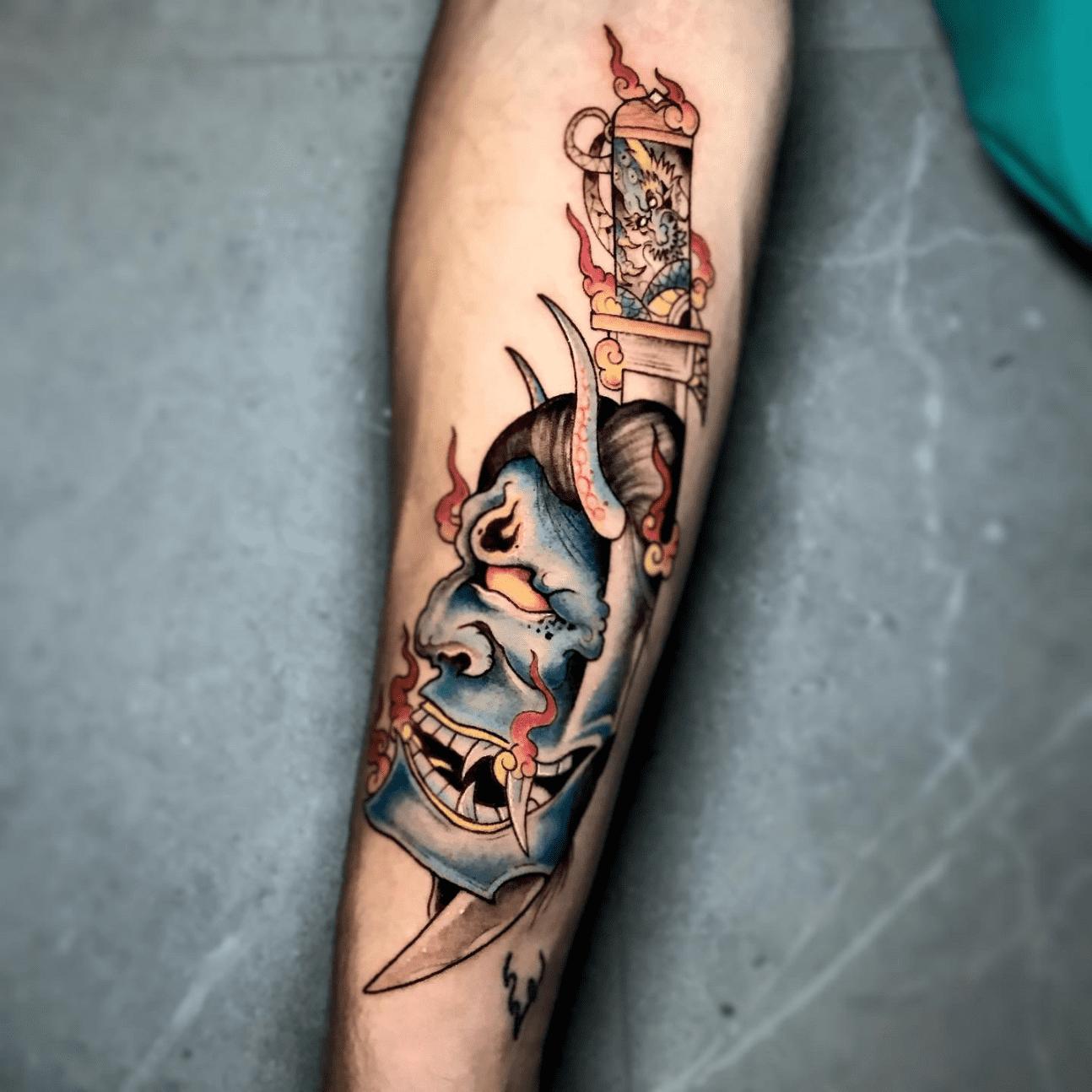 Tattoo giapponesi: la maschera di Hannya