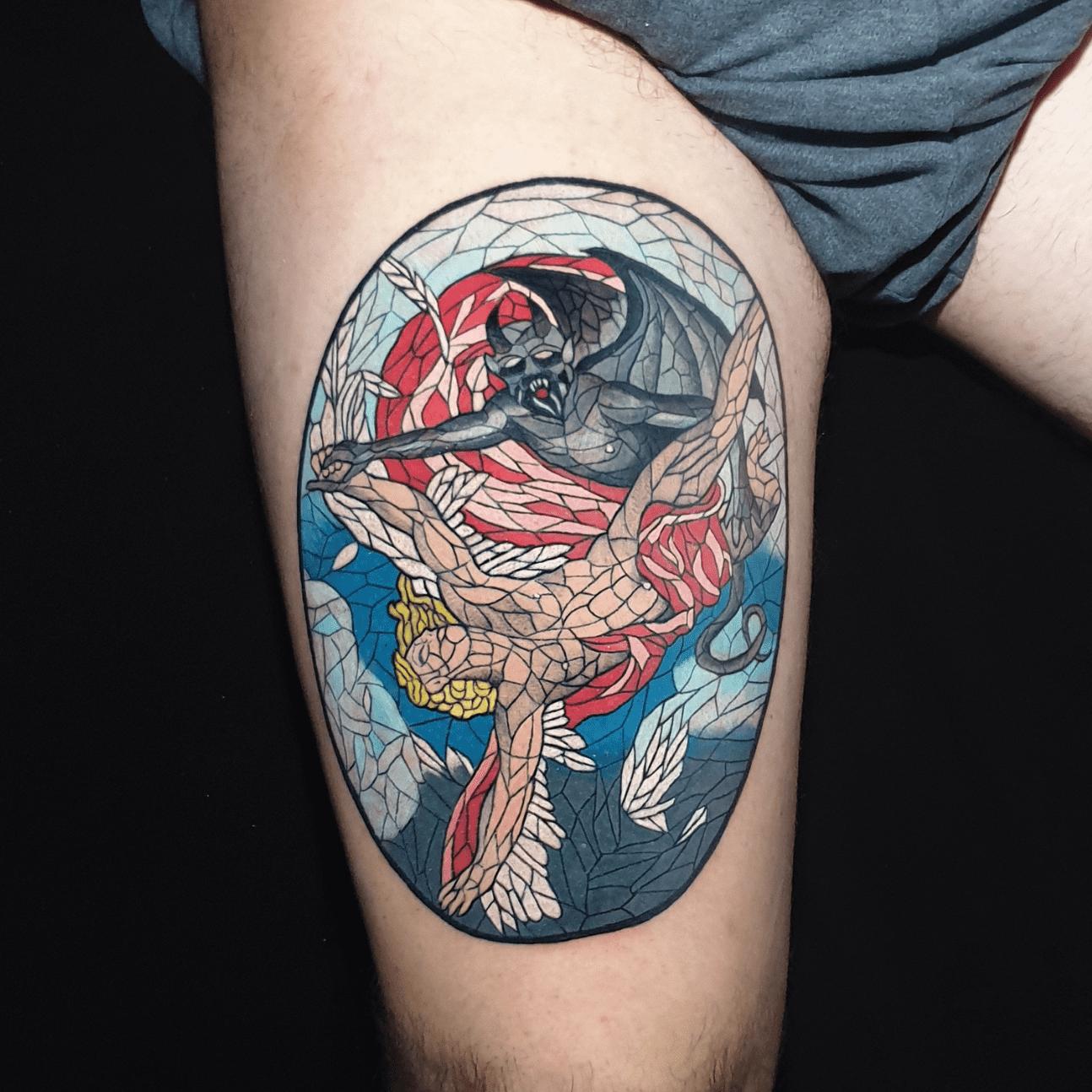 i tattoo religiosi: angeli e demoni