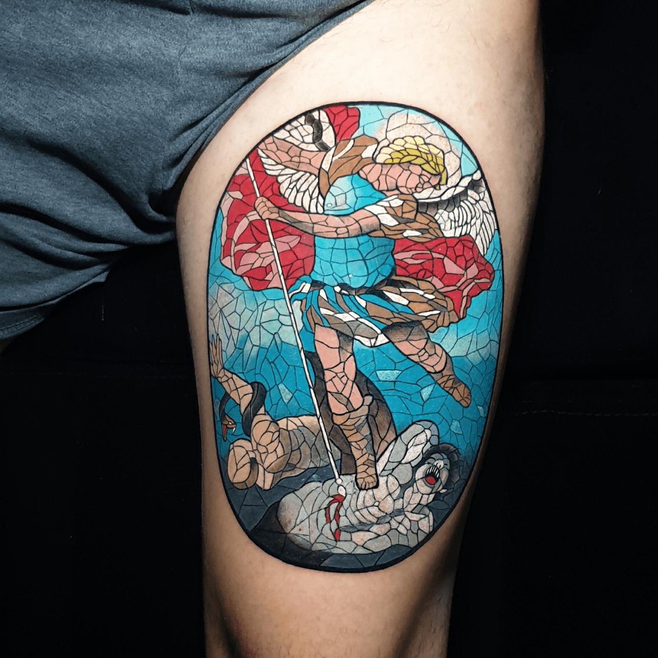 immagine san michele arcangelo - tattoo religiosi