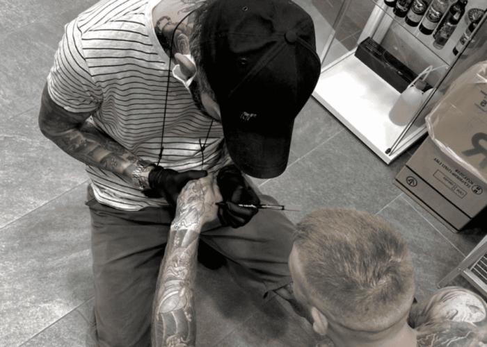 Gosu tatuaggio freehand a Roma